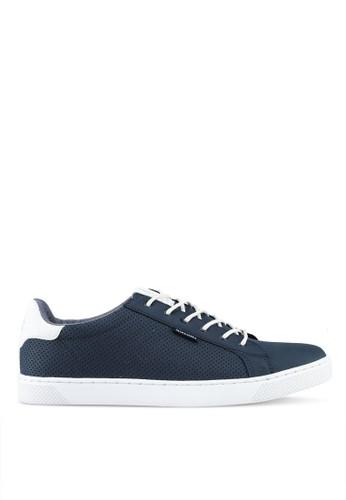Jack & Jones navy Trent Synthetic Suede Sneakers E4C81SH84CB7B5GS_1