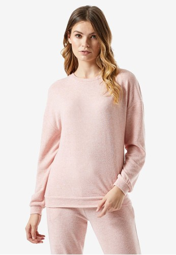 Dorothy Perkins pink Soft Touch Lounge Top DC21EAABEAB625GS_1