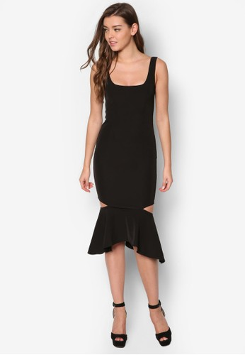 鏤空魚尾裙擺連身裙, esprit holdings服飾, 洋裝