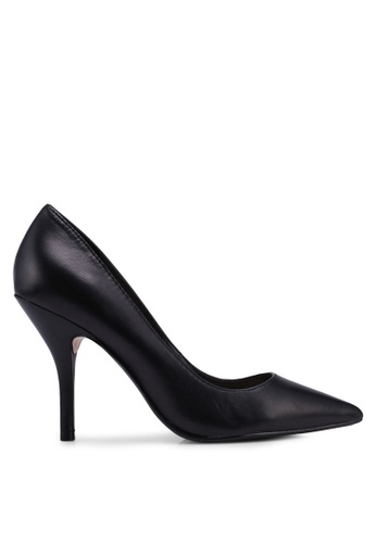 Mango black Leather Pumps FF895SHDE8011CGS_1
