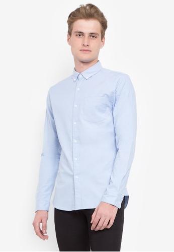 2b649dda88f Shop Topman Blue Muscle Fit Oxford Shirt Online on ZALORA Philippines