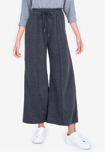 ZALORA BASICS grey Wide Leg Jogger Pants 95012AA5C28B23GS_1