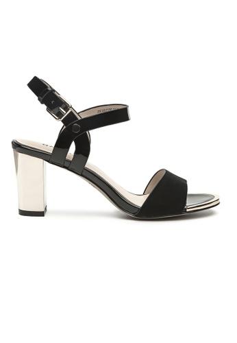 Byford black Ling Ankle Strap Heel Sandals 514C1SHD683299GS_1