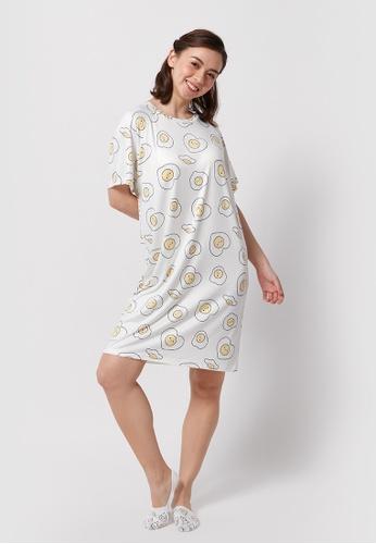 6IXTY8IGHT white 6IXTY8IGHT EDITH, Tee Dress HW08704 12404AAAB1FC8BGS_1