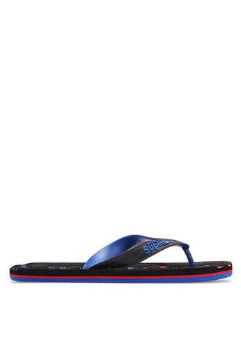 Superdry black and blue SCUBA FADED FLIP FLOP 07786SH4E153E8GS_1