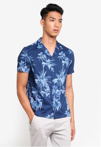 Burton Menswear London 藍色 短袖印花T恤 6547DAA35BDF91GS_1