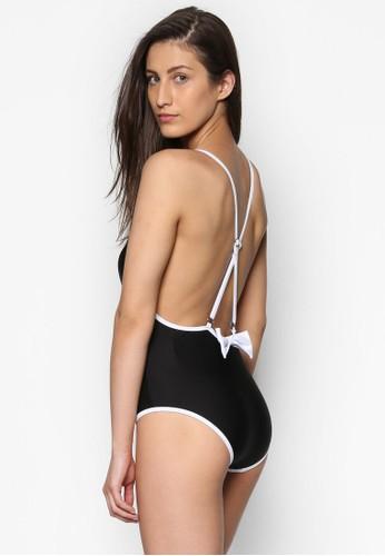 Seraphina 單色挖背連身泳衣, 服esprit香港門市飾, 泳褲及沙灘造型