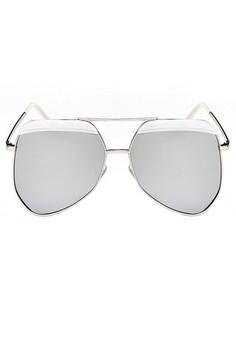 Aviator Sunglasses - White