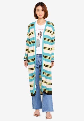 NAIN green Multi Stripe Cardigan 85D87AA6FFF2E4GS_1