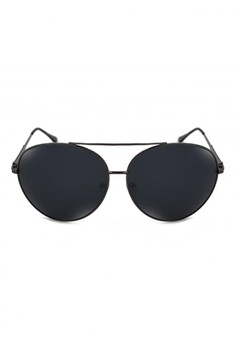 Allison Oversized Aviator Textured Arm Design Sunglasses A17-Y