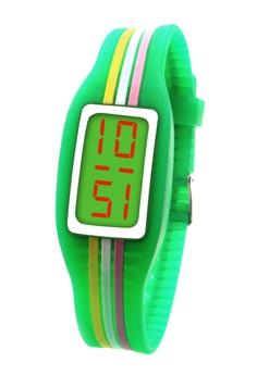 Digital LED Stripe Unisex Silicone Strap Watch