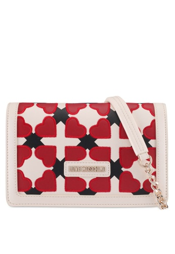 Love Moschino white and red and multi LOVE MOSCHINO Sling Bag LO478AC0SXX7MY_1