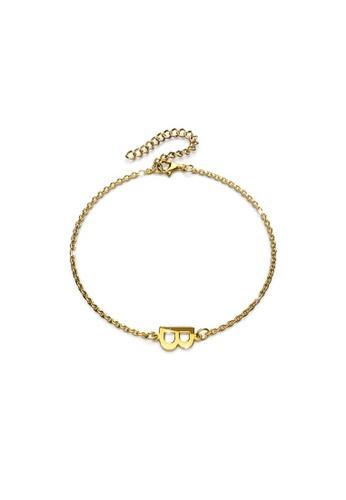 Bullion Gold gold BULLION GOLD Bold Alphabet Letter Initial Charm Bracelet in Gold Tone - B 0D17AACC107972GS_1