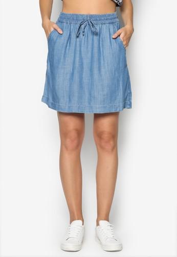 抽esprit香港分店繩丹寧短裙, 韓系時尚, 梳妝
