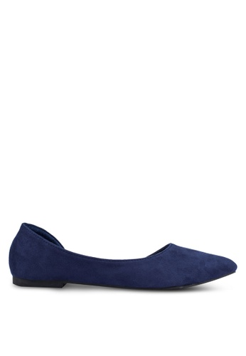 Mimosa blue Pointed D'orsay Flats MI065SH0RSSRMY_1