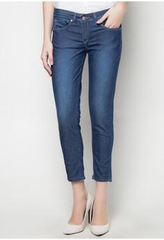 Regular Rise Floral Printed Reversible Skinny Jeans