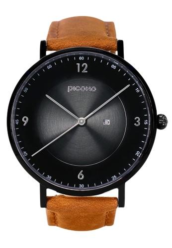PICONO Watches black VINYL Minimalist Leather Strap Watch PI771AC2VUS9HK_1