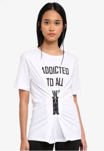 ONLY white ONLY ONE Hook T-Shirt B6D71AA3DE480BGS_1