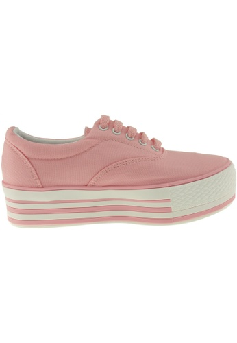 Maxstar pink Maxstar Women's C40 5 Holes Platform Canvas Low Top Sneakers US Women Size MA164SH47POQSG_1
