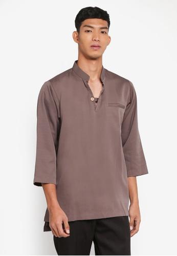 Klozet Kuala Lumpur 褐色 Kurta Regular Mareek上衣 804FAAA5257251GS_1