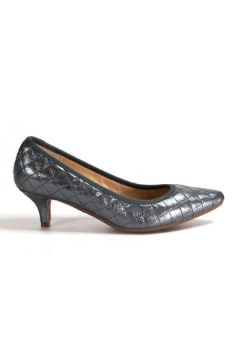 Shu Talk grey Stylish Chic Metallic Diamond Quilted Heels C3EBCSH7AD3848GS_1