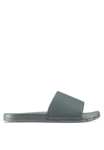 Topman grey Grey Kuba Rubber Sliders 7BA84SHAFCBDBAGS_1