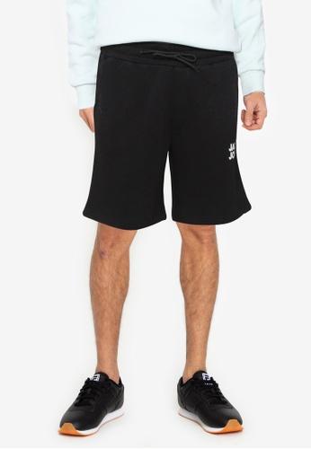 JACK & JONES black Newsoft Sweat Shorts 18B3EAAD61F63CGS_1