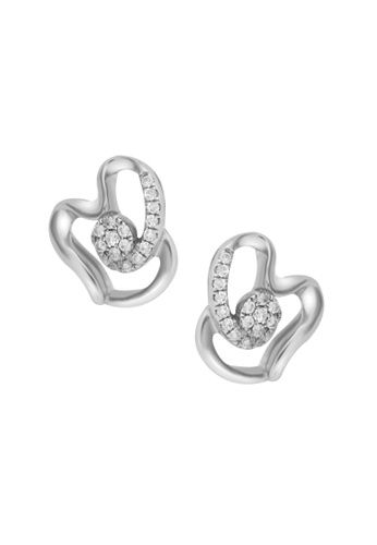 TOMEI white TOMEI Earrings in Petalled Glacé of Dazzling Sparks, Diamond White Gold 375 (E1724) 5CA17AC2919992GS_1