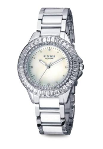 W8423L 閃esprit台灣outlet鑽不銹鋼圓錶, 錶類, 不銹鋼錶帶