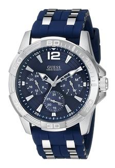 Guess Jam Tangan Pria - Silver Blue - Rubber - W0366G2 079DCACAEE9B97GS_1