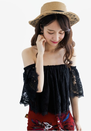 Shopsfashion black Off Shoulder Blouse ED5CBAAA9E4F9FGS_1