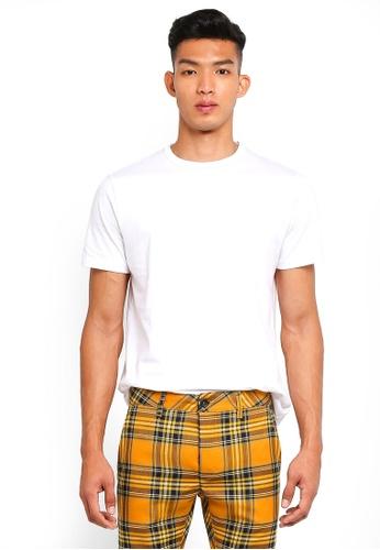 Topman 白色 經典短袖素色T恤 A02C2AA94EF7BFGS_1
