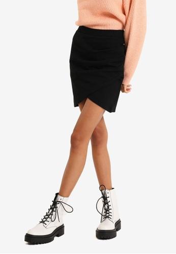 PIMKIE black Wrap Around Skirt C7325AA5475EF4GS_1