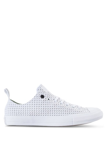 Converse white Chuck Taylor All Star Ii Reflective Sneakers Hi CO302SH37BLEMY_1