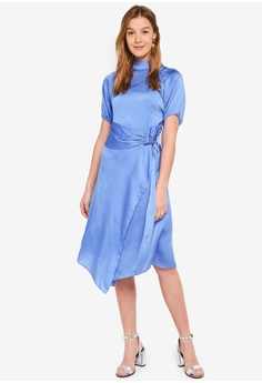80% OFF LOST INK Wrap Dress With Collar RM 269.00 NOW RM 53.90 Sizes XXS XS  S 043c5f718c