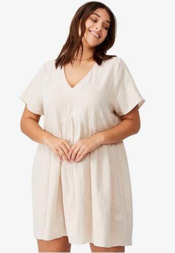 Cotton On beige Plus Size Martha Mini Dress 597A7AA80A3D84GS_1
