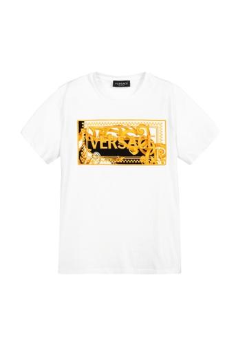 Versace white VERSACE TEENS T-SHIRT 13B61KAE25533CGS_1