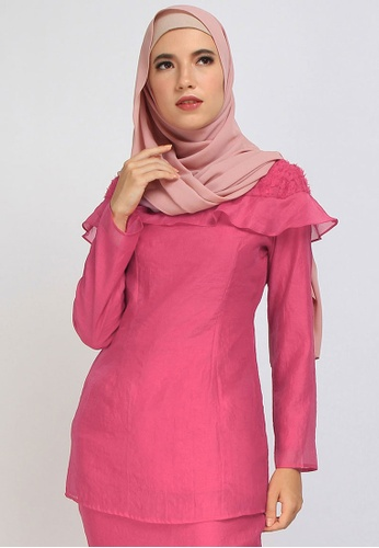 POPLOOK pink Giana Slightly Fitted Blouse 69718AAD06000FGS_1