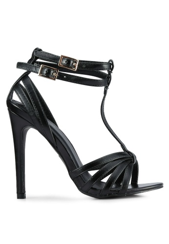 Something Borrowed black Double Ankle Open Toe Heel F0D72SHA445BACGS_1