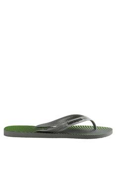 75d7f53277d4 Havaianas green Aero Graphic Flip Flops 9C4FBSHFD814E5GS 1
