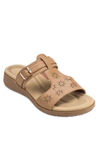 露趾扣環雕花涼鞋, 女鞋zalora 衣服評價, 涼鞋
