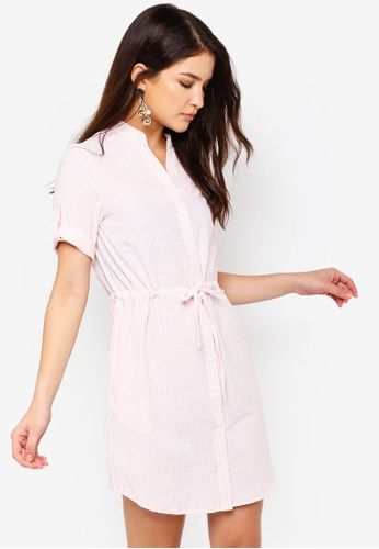ZALORA multi Button Down Pull String Shirt Dress 17337AA55F880AGS_1