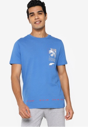 PUMA blue Digital Men's Tee E249BAA60B42E9GS_1