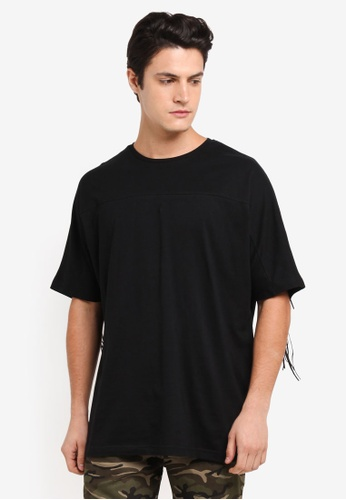 Flesh Imp black Thread Hole Patch Oversized T-Shirt B6949AA9A4B07DGS_1