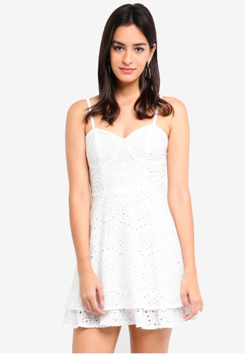 MDSCollections white Skylar Flared Dress In Off White D0A7CAA66C17A0GS_1