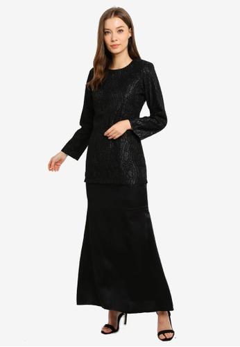 Butik Sireh Pinang black Baju Kurung Moden Elena 4BF47AA3EEA193GS_1