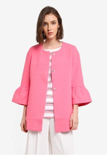 Esprit pink Outdoor Woven Regular Coat D70D2AA4DD15A4GS_1