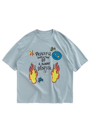 Twenty Eight Shoes Loose Graffiti Printed Short T-shirt 1293S20 77834AAF4F78B7GS_1