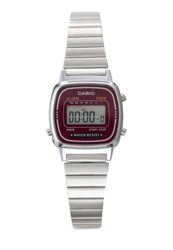 Casio silver Casio Women Digital Stainless Steel Strap Watch LA670WA-4SDF CA843AC39YQIMY_1