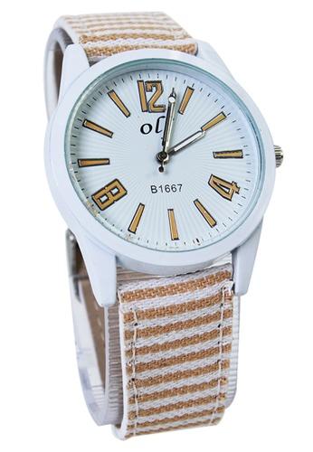 World of Watches yellow OLJ Kattie Women's Dandelion Leather and Fabric Strap Watch LFW007 WO566AC19TTWPH_1